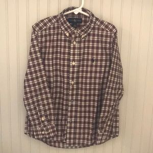 Boys long sleeve, button down shirt
